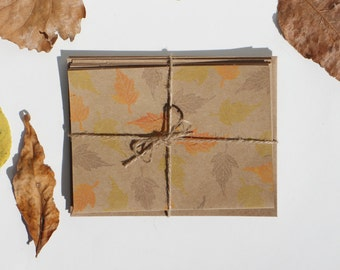 "For Fall: Pack of four small cards for all occasions - ""Autumn Leaves"""