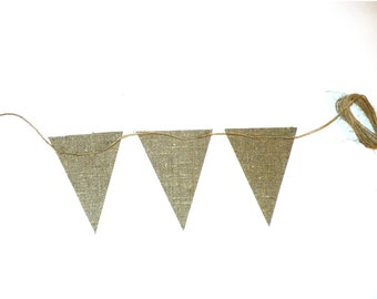 DIY burlap banner Kit DIY burlap bunting kit design your own banner,DIY banner,blank burlap flag,burlap pennant, garland, Christmas banner