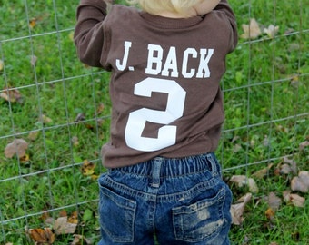 Football onesie personalized