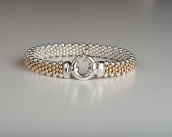 Classic - Sterling Silver/14k Gold Reversible Bracelet