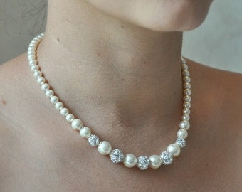 Bridal necklace beads retro vintage jewelry wedding