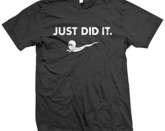 just did it nike sperm funny novelty tshirt tshirts tees