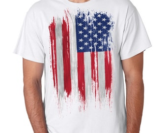USA Distress Flag  Cool American T-shirt