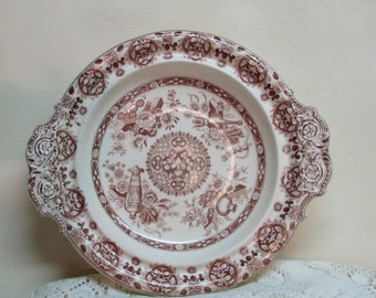 Vintage Ironstone Bowl or Platter – Brown and Off-White – Farmhouse Cottage Kitchen Décor