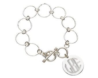 Monogrammed Link Bracelet