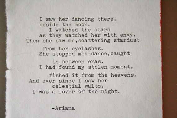 Poem Original Poetry Love Poem Wedding Vow Romantic Art Print