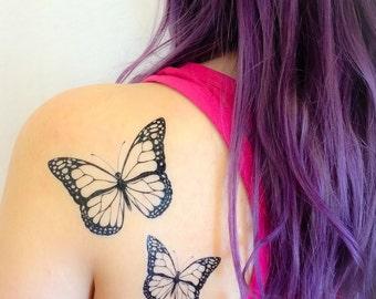 2 Butterfly Temporary Tattoos- SmashTat