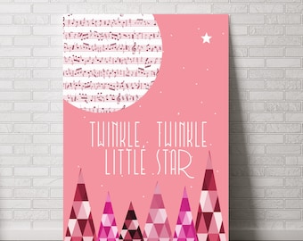 Twinkle, Twinkle Little Star Print - Various Sizes (5x7, 8x10, 11x14 oR 13x19)