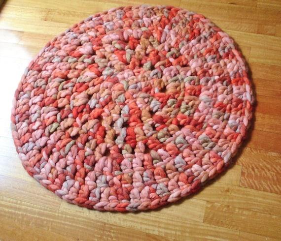 WOOL RUG, Crochet Rug, Area Rug, Round Rug, Knit Rug,Chunky Knit ...