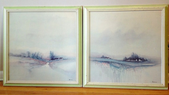 San Francisco Ts >> Set of 2 Vintage Framed Signed and Numbered by TheBarefootTortuga