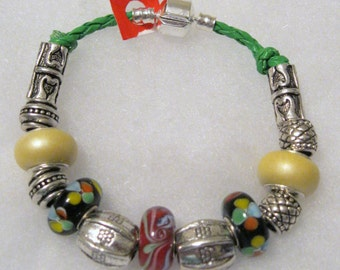 180 - CLEARANCE - Yellow Black Red Bracelet
