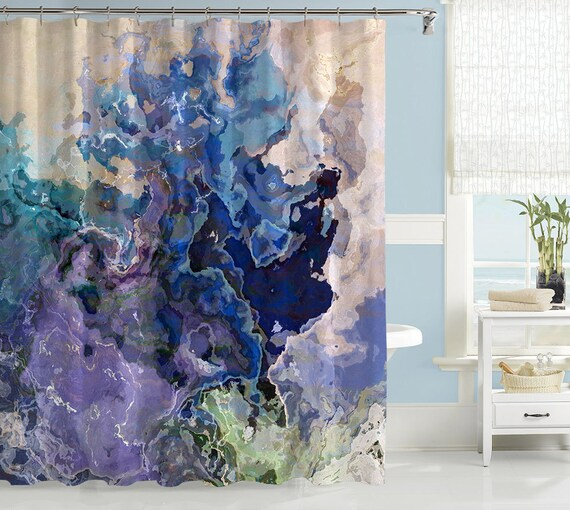 Contemporary Shower Curtain Abstract Art Bathroom Decor