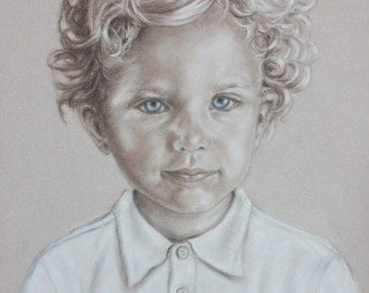 Custom  Portrait Painting, Child Portrait Commission, Baby Kids  Portraits