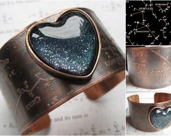 Constellation Cuff - Physics Jewelry - Science Jewelry - Galaxy Jewelry - Star Jewelry - Star Bracelet - Copper Cuff - Constellation - Astro