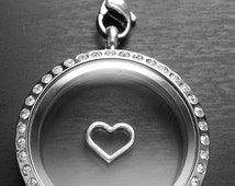 Silver Heart Floating Charm for Floating Lockets-Gift Idea