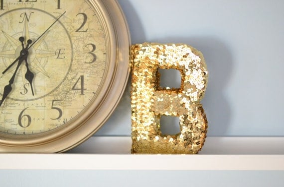Sequin Letter- Monogram Home Decor