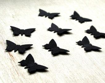 Black Butterflies, 150 Any size die cut black paper Butterflies, Choose Your SIZE Wedding butterflies, Die cut butterflies Paper butterfly