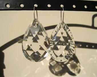Something Old, Something New - asymmetrical crystal bridal earrings #8