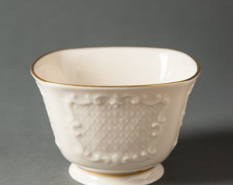 Lenox Ivory Candy Dish with Gold Trim