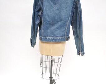 vintage levis jacket denim levi's jacket boyfriend 1970s hand painted south west