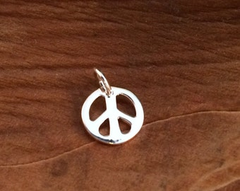 Peace Sign, Silver Peace Sign, Peace Sign Charm, Peace Sign Pendant, Silver Charm, Silver Pendant
