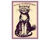 Cheshire Cat ~ Cat Who Ate The Canary ~ Vintage Cat Kitten Printable Instant Download ~ High Resolution Commercial Use Digital Image File