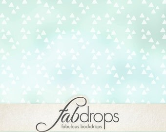 Photo Backdrop Vintage Triangles For Portrait & Baby Photography shoots, Photo Booth Background - Vintage Green Triangles Pattern (FD2168)