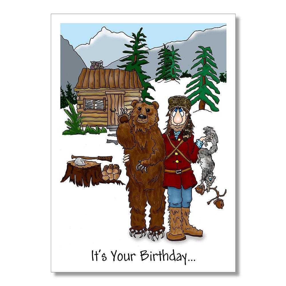 Wilderness Man Birthday Card Mountain Man Outdoors Man