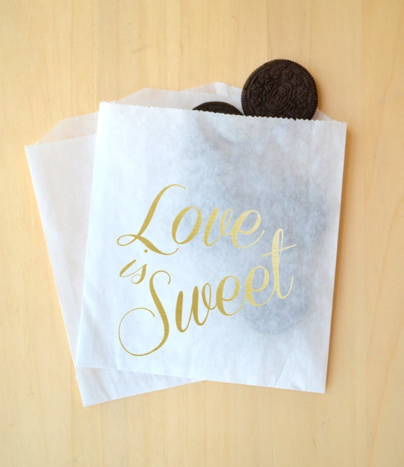 Small Personalised Wedding Gift Bags : Small Faux Gold Foil Wedding Favor Bags ~ Custom Treat Bags, Wedding ...