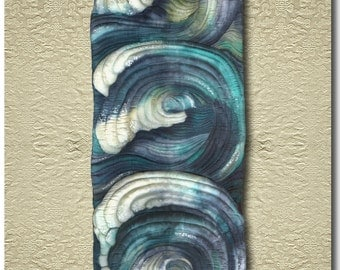 Ho'okipa - Original painted and stitched Silk Carving