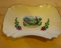 Irish Souvenir Dish, Old Foley James Kent, Bon bon dish, Trinket dish, Coin dish, Old Foley James Kent
