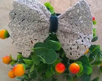 Velvet hairband with bow crochet!