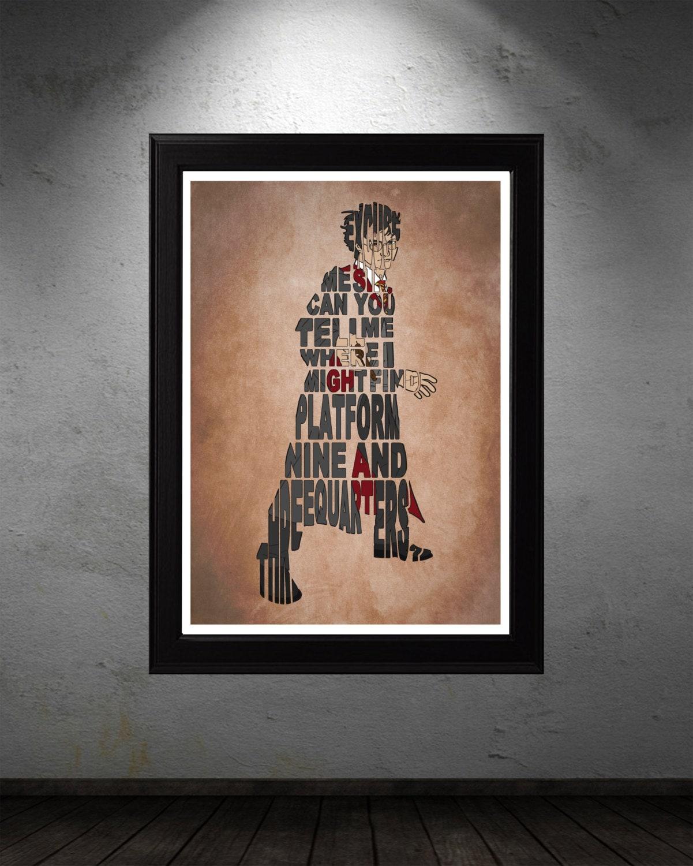 Harry Potter Poster Minimalist Typography By GeekSpeakPrints