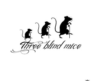 Three blind mice Wickedly Lovely Skin Art  temporary tattoo
