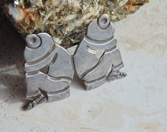 Artemio Navarrete Taxco 980 Mexico Silver Iconic Siesta Pin