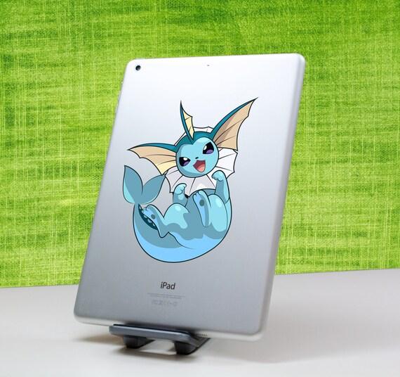 Vaporeon Pokemon sticker decal pour iPad, iPad mini, MacBook et tous les autres appareils ! ma092