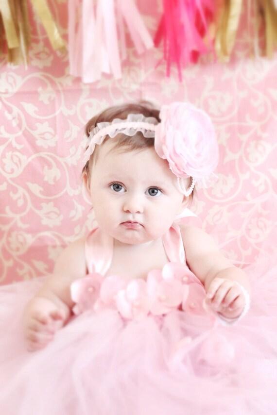 Gorgeous Beautiful Pink Petal Flower Baby Girl Tutu Dress 6-18