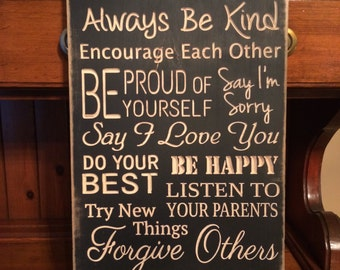 Personalized Carven Wooden Sign - House Rules