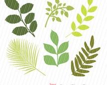 Spring Clip Art, Leaf Clip Art, Leaves Clip Art, Scrapbook Leaves, Leaf Shapes, Clip Art for Scrapbooking, Cards, Instant Download