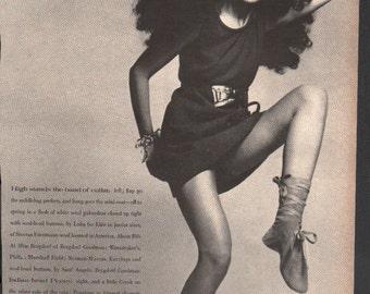 Vogue circa 1960s Penelope Tree model fashion photo 1 page 2-sided - cele120