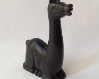 Vintage Small Hand Carved Llama
