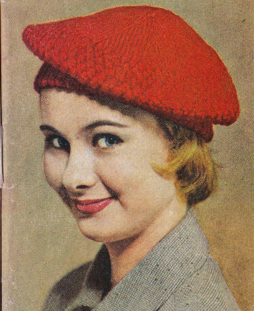Knitting Pattern Vintage Hat : Vintage Knitting Pattern Instructions to make a by ...