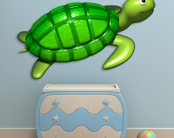Wall decals turtle A131 - Stickers tortue A131