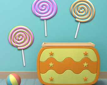 Wall decals lollipop A184 - Stickers sucettes A184