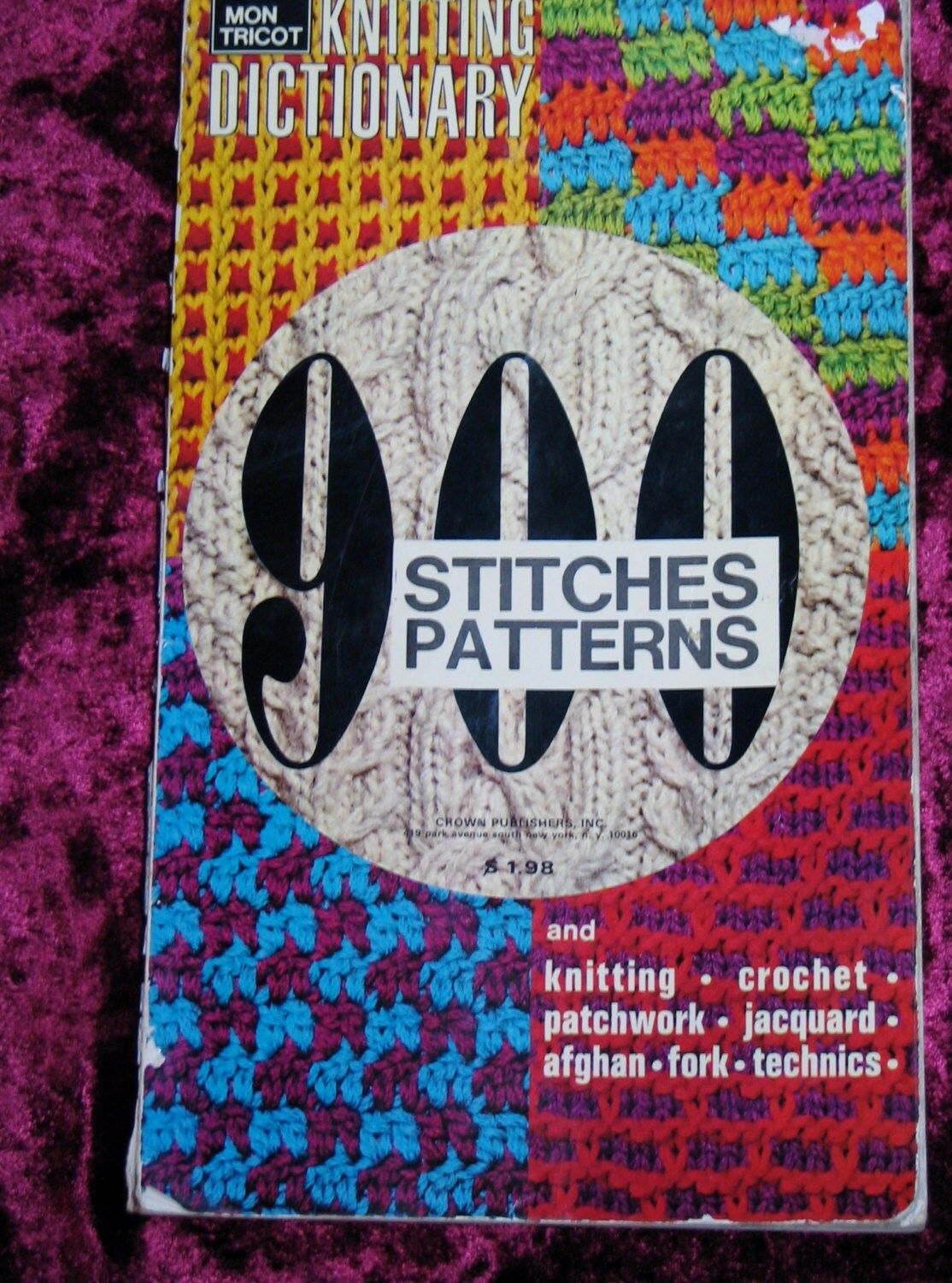 Knitting Stitches Dictionary Free : Mon Tricot Knitting Dictionary: 900 Stitches and by Jimazon