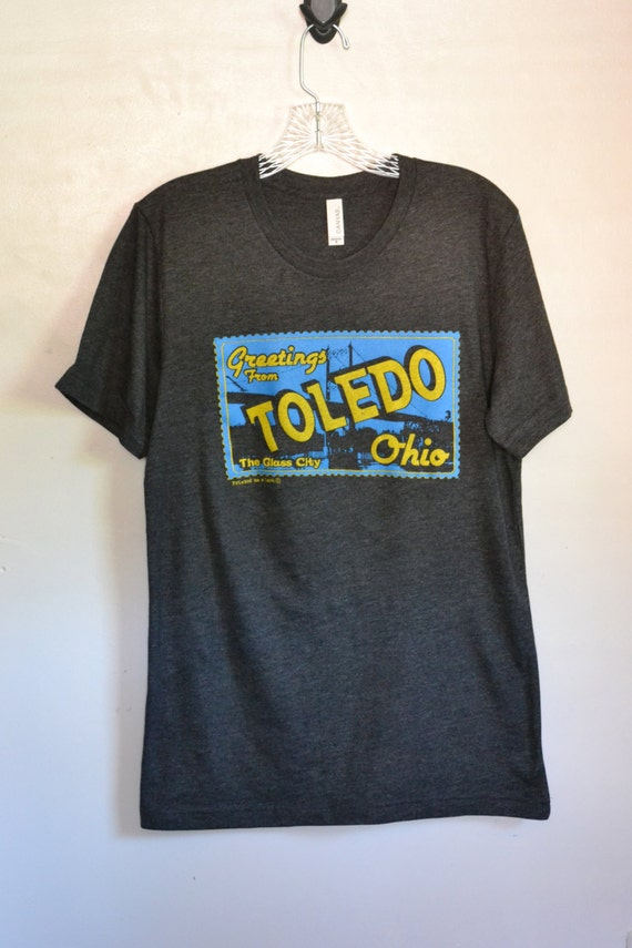 greetings from toledo ohio postcard t shirt by printedonalark