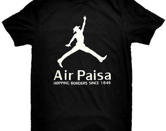 Air Paisa Hopping Borders Since 1846 Funny Mexican Latino Immigration  T-Shirt