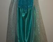 Elsa Dress Frozen Transformation Dress Elsa Frozen Costume Dress Elsa Ice Queen Dress Disney Frozen Princess Dress