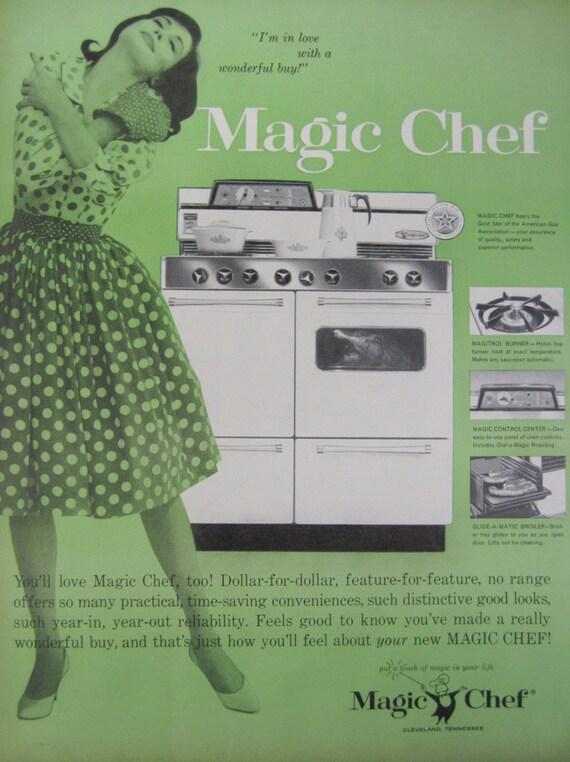 1960 Magic Chef Stove Oven Range Vintage Magazine