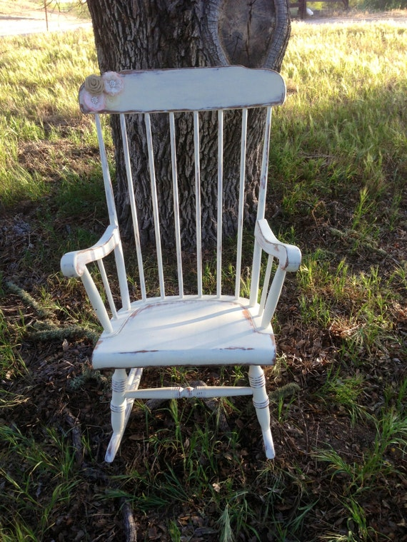 SOLD!!! Shabby Chic Rocking Chair